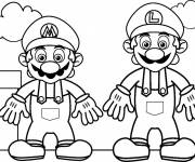Coloring pages Drawing of Mario Bros