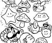 Coloring pages Mario Bros