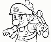 Coloring pages Mario Bros flying