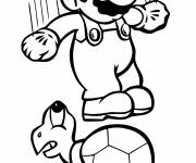 Coloring pages Mario while jumping