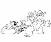 Coloring pages Mario Kart Bowser