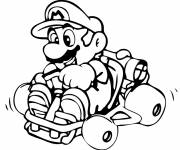 Coloring pages Mario Kart in color