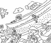 Coloring pages Mario Kart Karting race