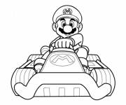 Coloring pages Mario Karting
