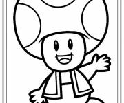 Coloring pages drawing of Toad greeting you