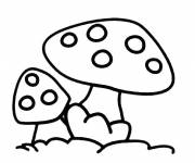 Coloring pages Free Mushroom Drawing
