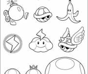 Coloring pages Mario Bros characters to print