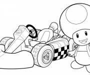 Coloring pages Mario Kart for kids