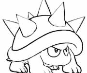 Coloring pages Mario Mushroom drawing free online