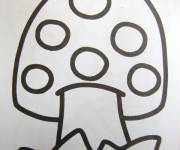 Coloring pages Mushroom drawing to download