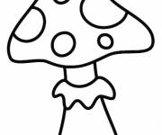 Coloring pages Toad the Mushroom for children