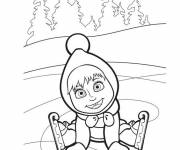 Coloring pages Masha in color