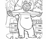 Coloring pages Michka and a ruler