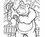 Coloring pages Michka and The Hare