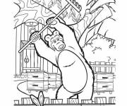 Coloring pages Michka gardening