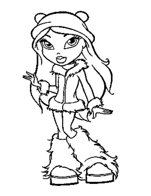 Free coloring and drawings Bratz for kids Coloring page