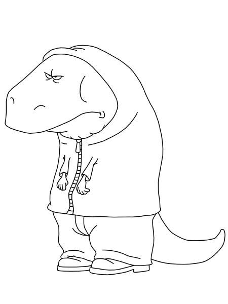 Free coloring and drawings Funny Lizard The Minimighty Coloring page