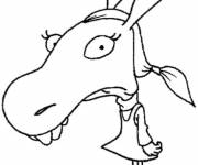 Free coloring and drawings Monica The Minimighty  Coloring page