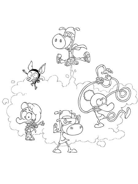 Free coloring and drawings The gang of The Minimighty Kids Coloring page