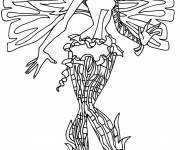 Coloring pages The Minimighty butterfly to be colored