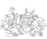 Coloring pages The Minimighty Kids Arguing
