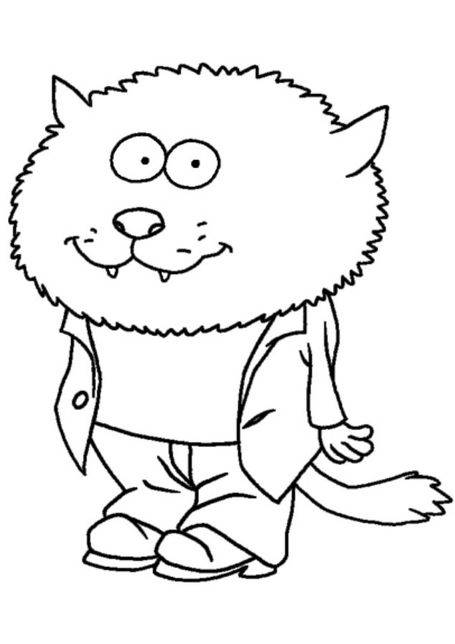 Free coloring and drawings The Minimighty Kids: the wolf Coloring page