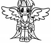 Free coloring and drawings Twilight Sparkle in my little pony Coloring page