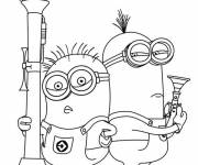 Coloring pages Minion Dave too cute
