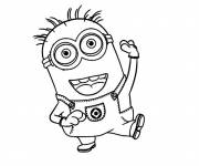 Coloring pages Easy Minion Drawing