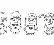Coloring pages Minions Bob, Stuart and Kevin