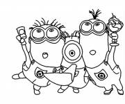 Coloring pages Minions celebrate online