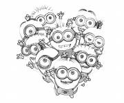 Coloring pages The Minions party