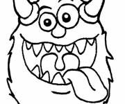 Coloring pages Humorous monster