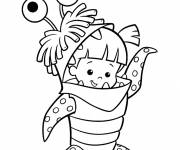 Coloring pages Monster and Co. easy drawing