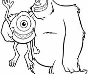 Coloring pages Monster and magical company