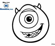 Coloring pages Monster and Mike Wazowski drawing