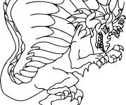 Coloring pages Monster dragon online
