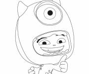 Coloring pages Monster: Mike and a child