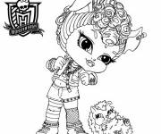 Free coloring and drawings Baby monster high Coloring page