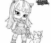 Coloring pages Baby Monster High for girls