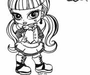 Free coloring and drawings Monster High baby Coloring page