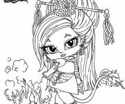 Free coloring and drawings Monster High baby Jinafire Long Coloring page
