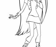 Free coloring and drawings Monster High easy in color Coloring page