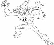 Free coloring and drawings Ben 10 Alien Force Coloring page