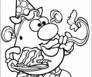 Coloring pages Handsome Mr. Potato