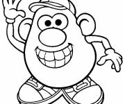 Coloring pages Mr. Potato for children free