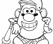 Coloring pages Mr. Potato to print for free