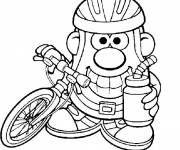 Coloring pages the cute Mr. Potato cartoon
