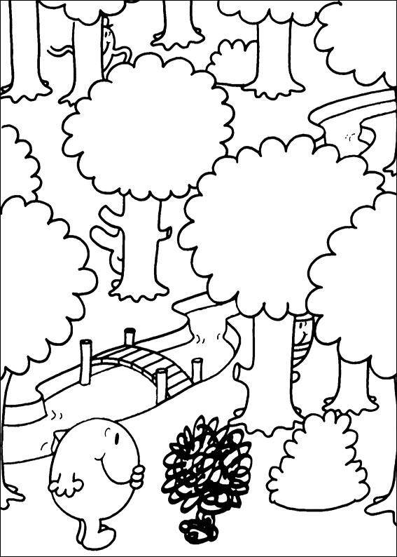 Free coloring and drawings Mr. Tickle for kids Coloring page