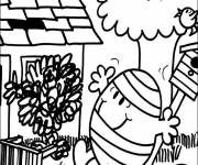 Coloring pages Cartoon Mr.Bump